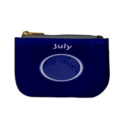 Moon July Blue Space Mini Coin Purses by Mariart