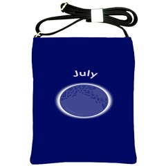Moon July Blue Space Shoulder Sling Bags by Mariart