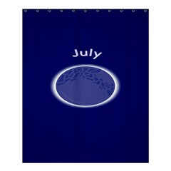 Moon July Blue Space Shower Curtain 60  X 72  (medium)  by Mariart