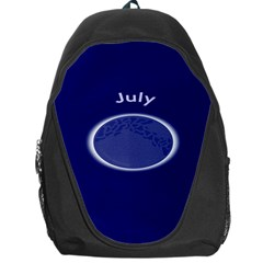 Moon July Blue Space Backpack Bag by Mariart