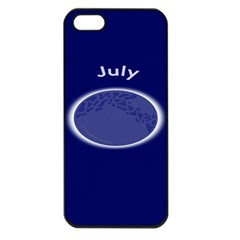 Moon July Blue Space Apple Iphone 5 Seamless Case (black) by Mariart