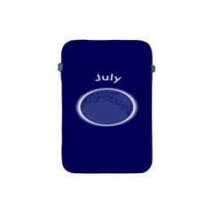 Moon July Blue Space Apple Ipad Mini Protective Soft Cases by Mariart