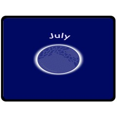 Moon July Blue Space Double Sided Fleece Blanket (large)  by Mariart