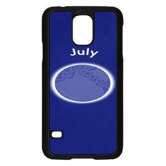Moon July Blue Space Samsung Galaxy S5 Case (black) by Mariart