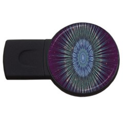 Peaceful Flower Formation Sparkling Space Usb Flash Drive Round (2 Gb) by Mariart