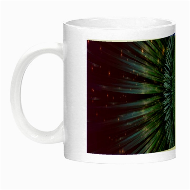 Peaceful Flower Formation Sparkling Space Night Luminous Mugs