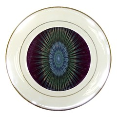 Peaceful Flower Formation Sparkling Space Porcelain Plates by Mariart