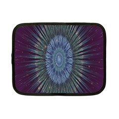 Peaceful Flower Formation Sparkling Space Netbook Case (small)  by Mariart