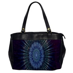 Peaceful Flower Formation Sparkling Space Office Handbags by Mariart