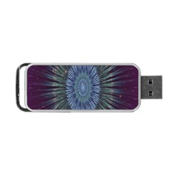 Peaceful Flower Formation Sparkling Space Portable Usb Flash (one Side) by Mariart