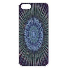 Peaceful Flower Formation Sparkling Space Apple Iphone 5 Seamless Case (white) by Mariart
