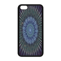 Peaceful Flower Formation Sparkling Space Apple Iphone 5c Seamless Case (black) by Mariart