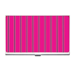 Pink Line Vertical Purple Yellow Fushia Business Card Holders by Mariart
