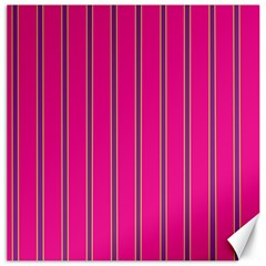 Pink Line Vertical Purple Yellow Fushia Canvas 16  X 16   by Mariart