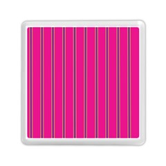 Pink Line Vertical Purple Yellow Fushia Memory Card Reader (square)  by Mariart
