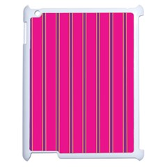 Pink Line Vertical Purple Yellow Fushia Apple Ipad 2 Case (white) by Mariart