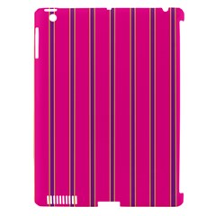 Pink Line Vertical Purple Yellow Fushia Apple Ipad 3/4 Hardshell Case (compatible With Smart Cover) by Mariart