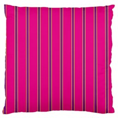 Pink Line Vertical Purple Yellow Fushia Large Cushion Case (two Sides) by Mariart