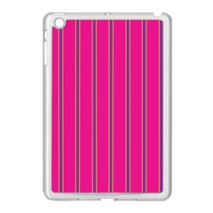 Pink Line Vertical Purple Yellow Fushia Apple Ipad Mini Case (white) by Mariart