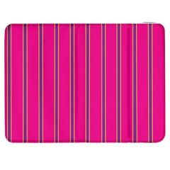 Pink Line Vertical Purple Yellow Fushia Samsung Galaxy Tab 7  P1000 Flip Case by Mariart