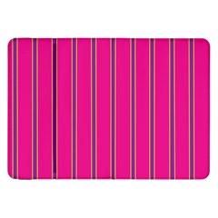 Pink Line Vertical Purple Yellow Fushia Samsung Galaxy Tab 8 9  P7300 Flip Case by Mariart