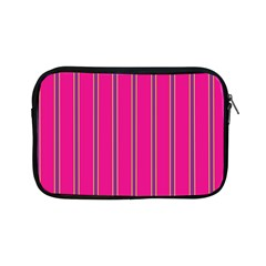 Pink Line Vertical Purple Yellow Fushia Apple Ipad Mini Zipper Cases by Mariart