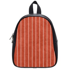 Line Vertical Orange School Bag (small) by Mariart