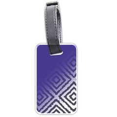 Plaid Blue White Luggage Tags (one Side)  by Mariart