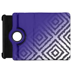 Plaid Blue White Kindle Fire Hd 7  by Mariart