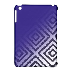 Plaid Blue White Apple Ipad Mini Hardshell Case (compatible With Smart Cover) by Mariart
