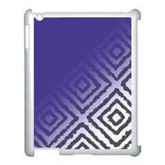 Plaid Blue White Apple Ipad 3/4 Case (white) by Mariart