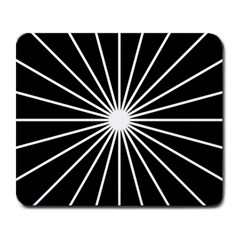 Ray White Black Line Space Large Mousepads by Mariart