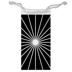 Ray White Black Line Space Jewelry Bag by Mariart