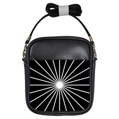 Ray White Black Line Space Girls Sling Bags by Mariart