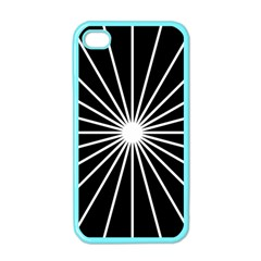 Ray White Black Line Space Apple Iphone 4 Case (color) by Mariart