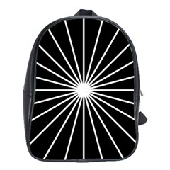 Ray White Black Line Space School Bag (xl) by Mariart