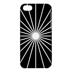 Ray White Black Line Space Apple Iphone 5c Hardshell Case by Mariart