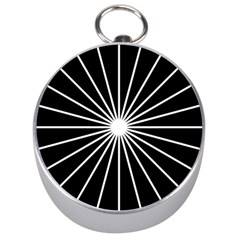Ray White Black Line Space Silver Compasses by Mariart