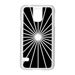 Ray White Black Line Space Samsung Galaxy S5 Case (white) by Mariart