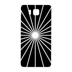 Ray White Black Line Space Samsung Galaxy Alpha Hardshell Back Case by Mariart