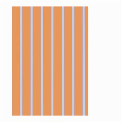 Rayures Bleu Orange Small Garden Flag (two Sides) by Mariart