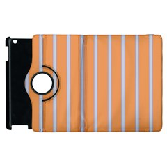Rayures Bleu Orange Apple Ipad 2 Flip 360 Case by Mariart