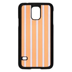 Rayures Bleu Orange Samsung Galaxy S5 Case (black) by Mariart
