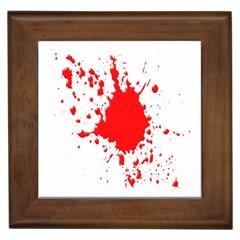 Red Blood Splatter Framed Tiles by Mariart