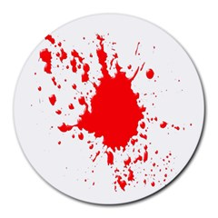 Red Blood Splatter Round Mousepads by Mariart