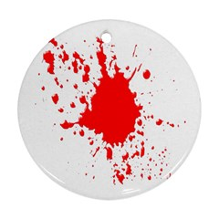 Red Blood Splatter Ornament (round) by Mariart