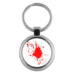 Red Blood Splatter Key Chains (round)  by Mariart