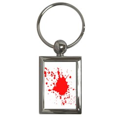 Red Blood Splatter Key Chains (rectangle)  by Mariart