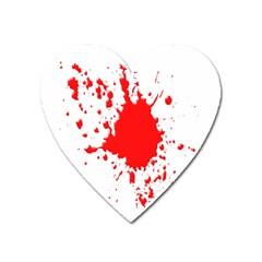 Red Blood Splatter Heart Magnet