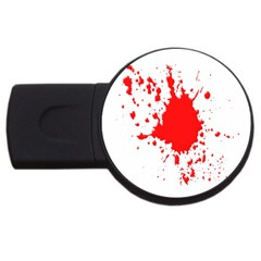 Red Blood Splatter Usb Flash Drive Round (2 Gb) by Mariart